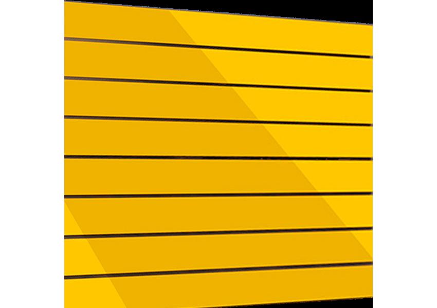 Painel Canaletado Amarelo 915mm X 2750mm
