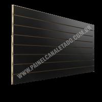 Painel Canaletado Preto 610mm X 2440mm