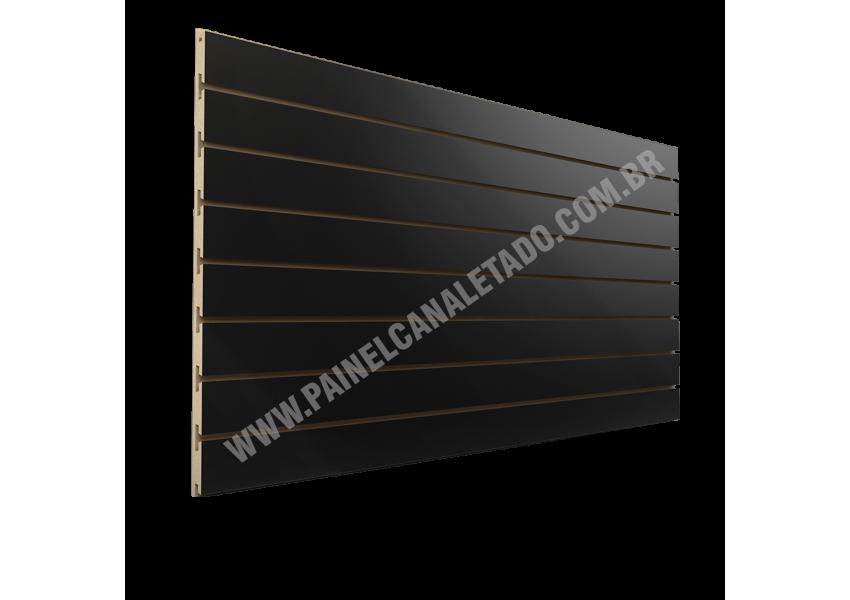 Painel Canaletado Preto 610mm X 2750mm