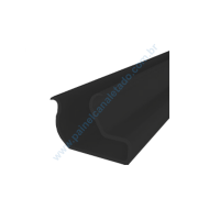 Perfil PVC  Preto